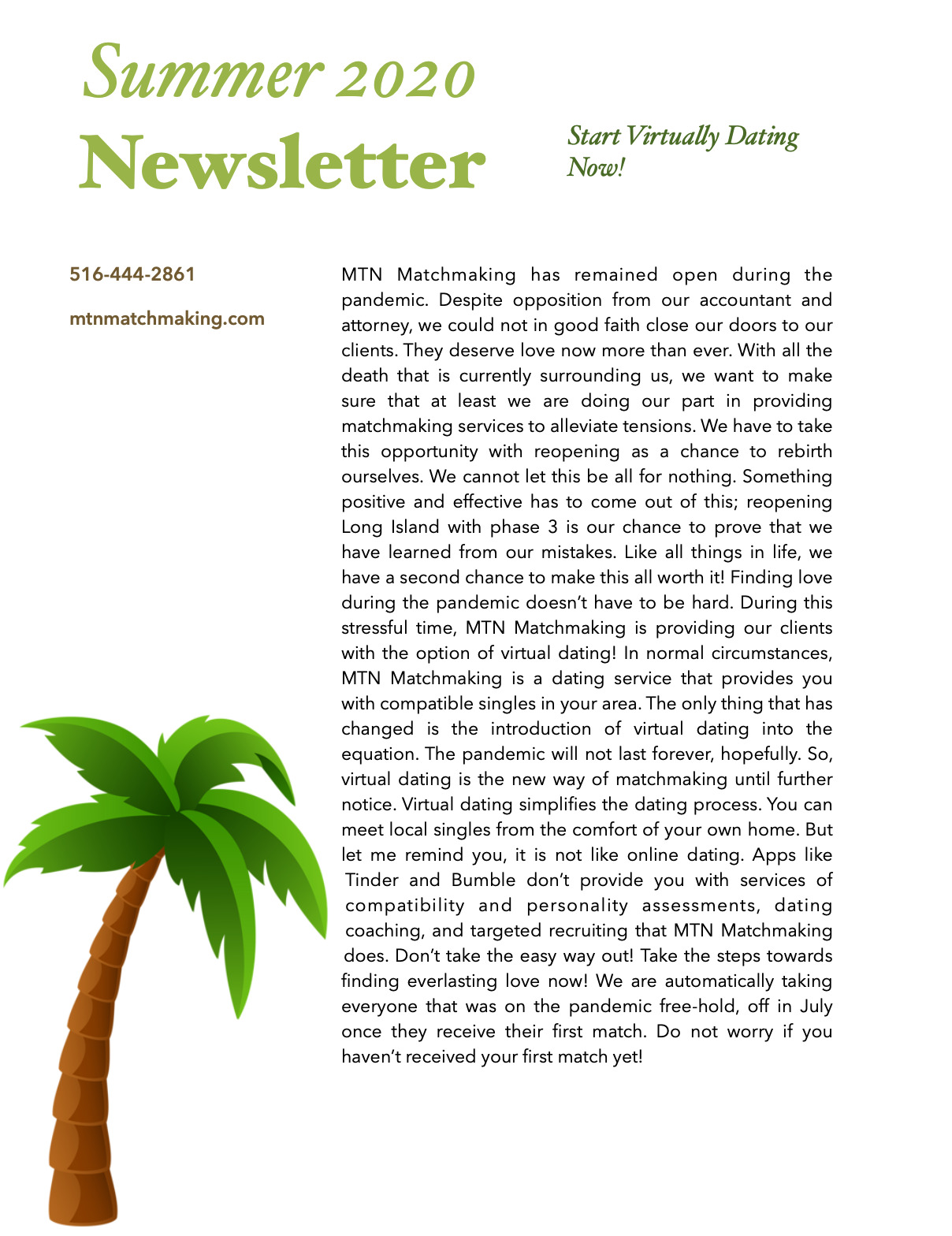 Summer 2020 Newsletter! Now Available!